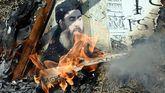 Foto de archivo. Queman una imagen del líder del Estado Islámico en Nueva Delhi