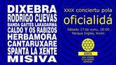 Cartel del XXIX Conciertu pola Oficialidá