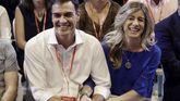 Pedro Sánchez, junto a su mujer, Begoña Gómez