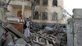 Imagen de un reciente bombardeo en Yemen