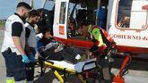 El 112 de Cantabria evacúa a un montañero de Langreo herido en Picos de Europa