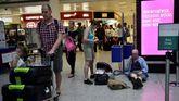 Pasajeros en un aeropuerto londinense