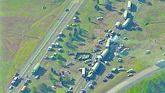 Imagen aérea del choque en cadena ocurrido en la l-75 en diciembre de 1990