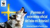 Cartel con el que se ilustra la campaña de recogida de firmas contra las batidas de lobos