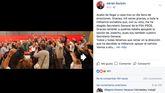 Felicitaciones en el perfil de Adrián Barbón