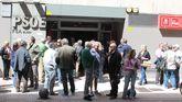 La Casa del Pueblo de Gijón, durante las primarias del pasado mes de mayo