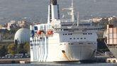 Embarcación atracada en el puerto de Tarragona para dar a los agentes