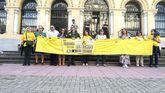 Manifestación de los funcionarios de justicia en Oviedo.
