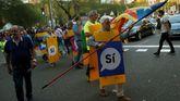 Manifestación en Barcelona a favor del referendo