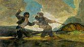 """Duelo a garrotazos"" (1823). Francisco de Goya. Museo Nacional del Prado"