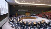 Fotografía de miembros del Consejo de Seguridad durante la intervención del mediador de la ONU para el conflicto en Siria, Staffan de Mistura