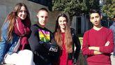 Xeila, Xavi, Lourdes y Moha