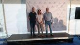 José Manuel Zapico, Marta Mori y Rubén Medina, de CCOO, durante la presentación del Proyectu 2018 pola Oficialidá