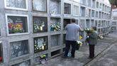 Cementerio de Albeos, que fue cerrado por el cura la víspera de Difuntos