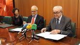Javier Nadal y José María Quirós firman el acuerdo de colaboración