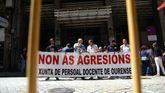 Manifestación en el 2015 tras la agresión a una profesora en Verín
