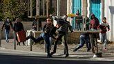 Manifestantes palestinos en Belén