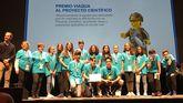 En la imagen, el equipo del colegio Atios de Valdoviño