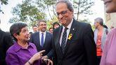 La delegada del Gobierno, Teresa Cunillera, junto al presidente de la Generalitat, Quim Torra