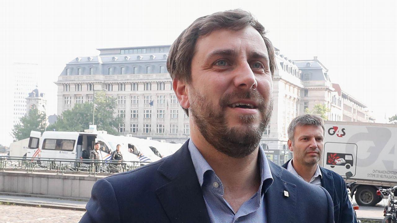 Toni Comín: «Basta ya de abusar del Código Penal para perseguir a responsables políticos».Puigdemont, hoy en Berlín