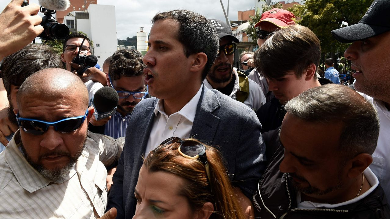 Nicolás Maduro canta «Que viva España».Sanchez compareció en La Moncloa para hacer el anuncio sobre Venezuela