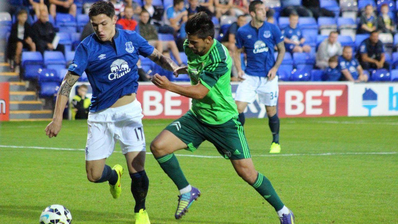 Amistoso ante el Everton en el 2014