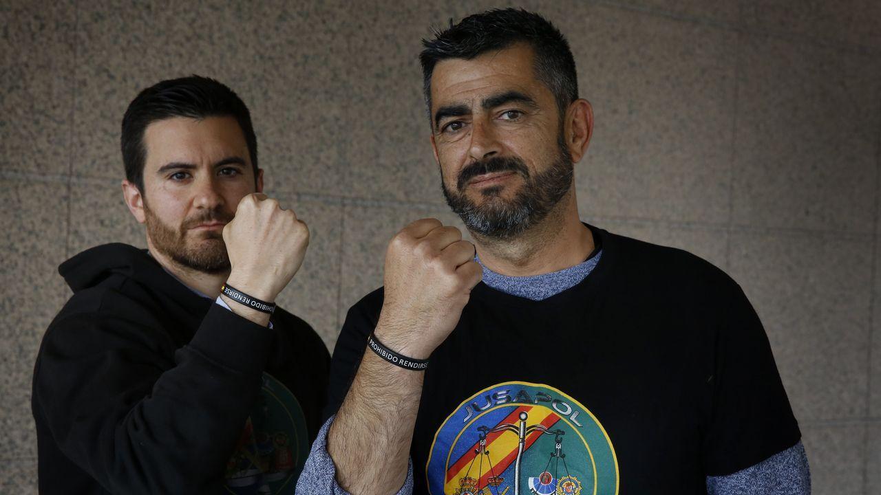 El policía nacional Miguel Diz, izquierda, y el guardia civil, Agustín Leal, irán a Madrid
