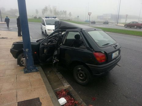 Accidente en la avenida Duquesa de Lugo