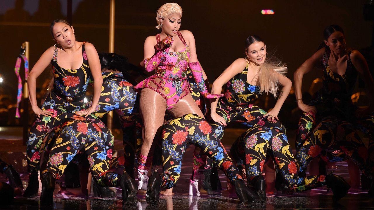 Nicki Minaj durante su actuación