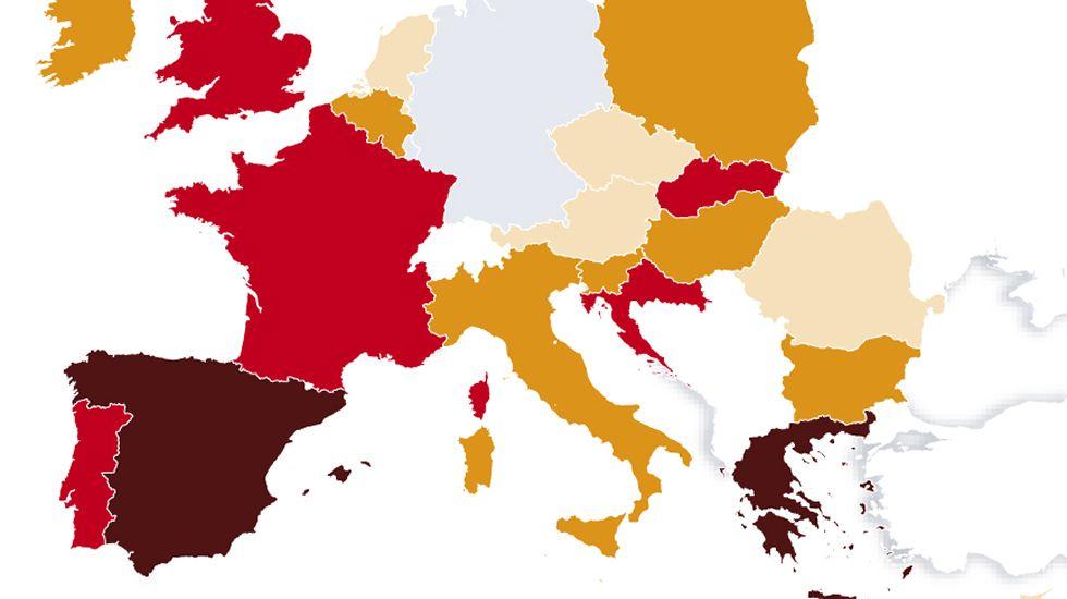 Déficit en Europa