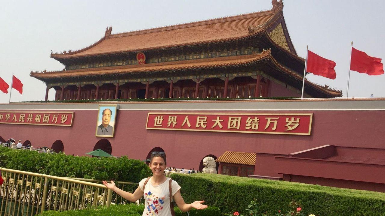 Vero Boquete, en la Ciudad Prohibida de Pekín