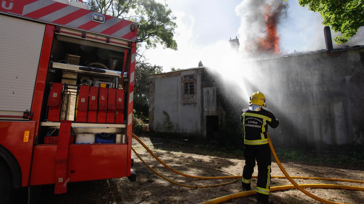 Incendio en un pazo en Cospeito.