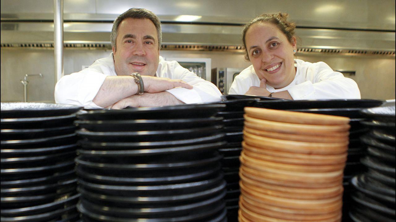 Escuela de Asturianía.Rosanna Zanetti y David Bisbal.