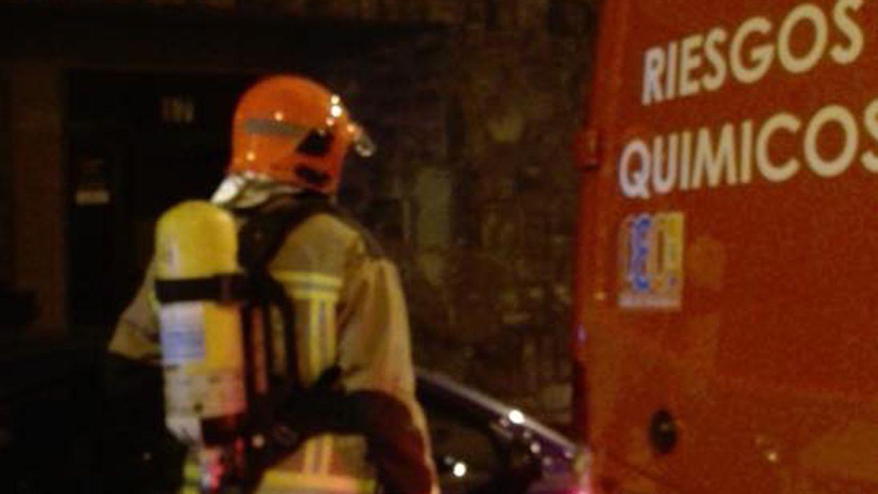 Un bombero de Oviedo