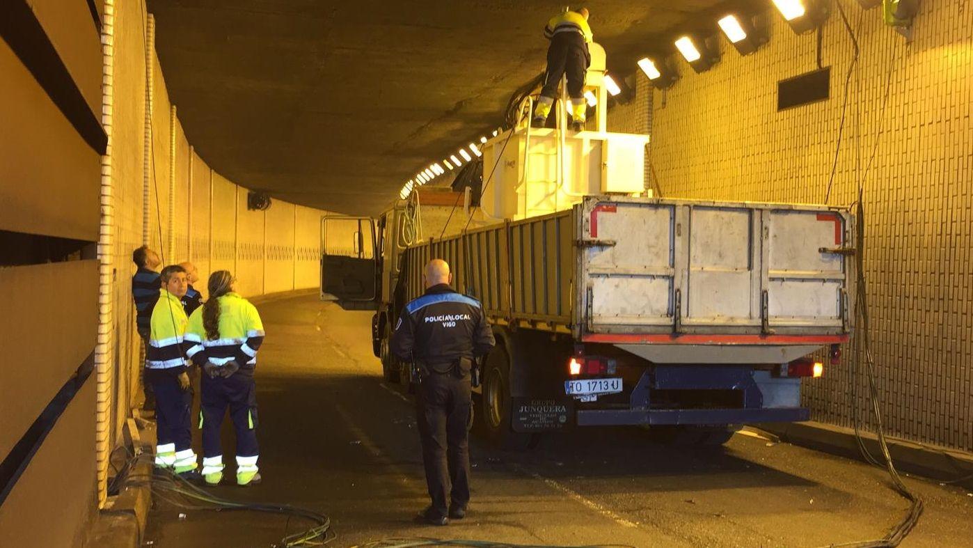 Accidente en el túnel de Beiramar de Vigo