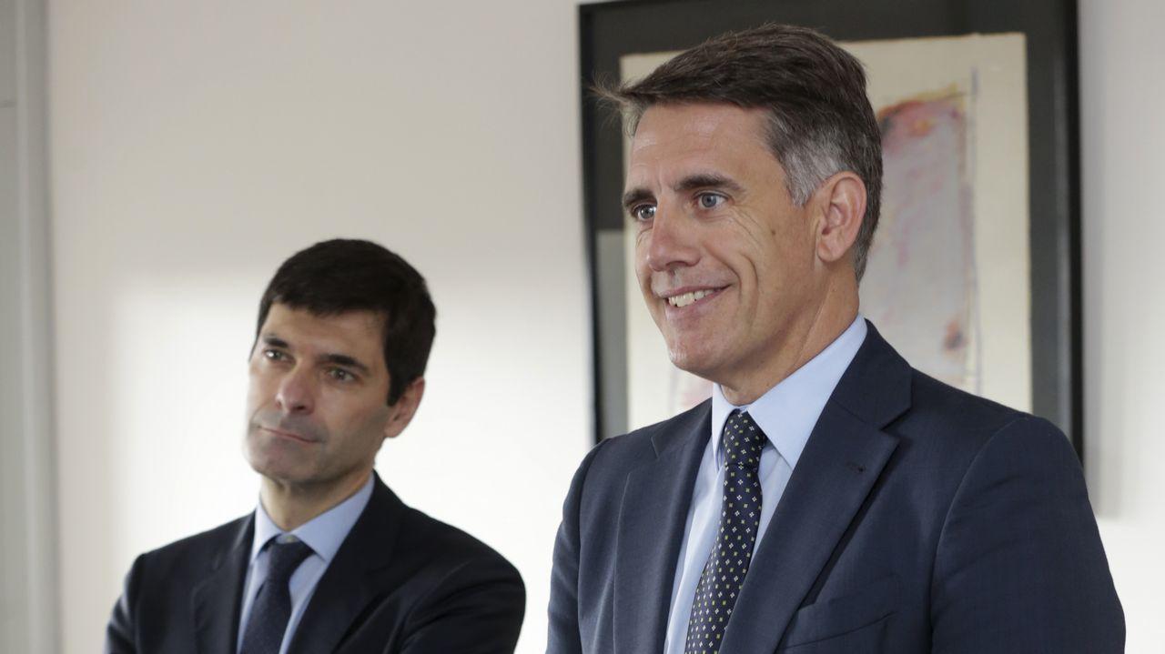 Carrasco y Megías, en la sede central del BBVA en A Coruña