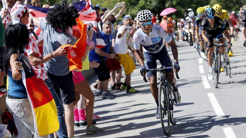 La última etapa de montaña del Tour, en fotos.