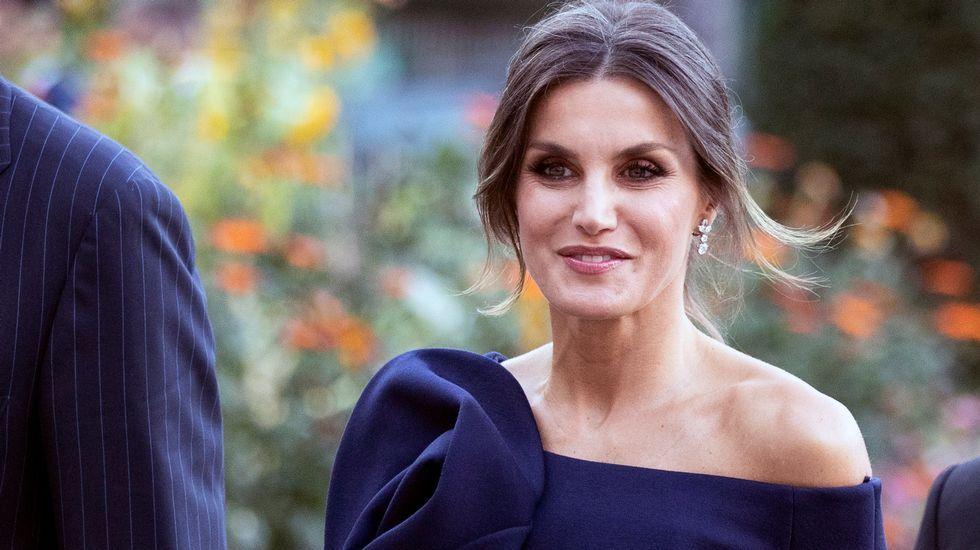 Los reyes posan con los premiados en los Premios Princesa de Asturias.Reina Letizia