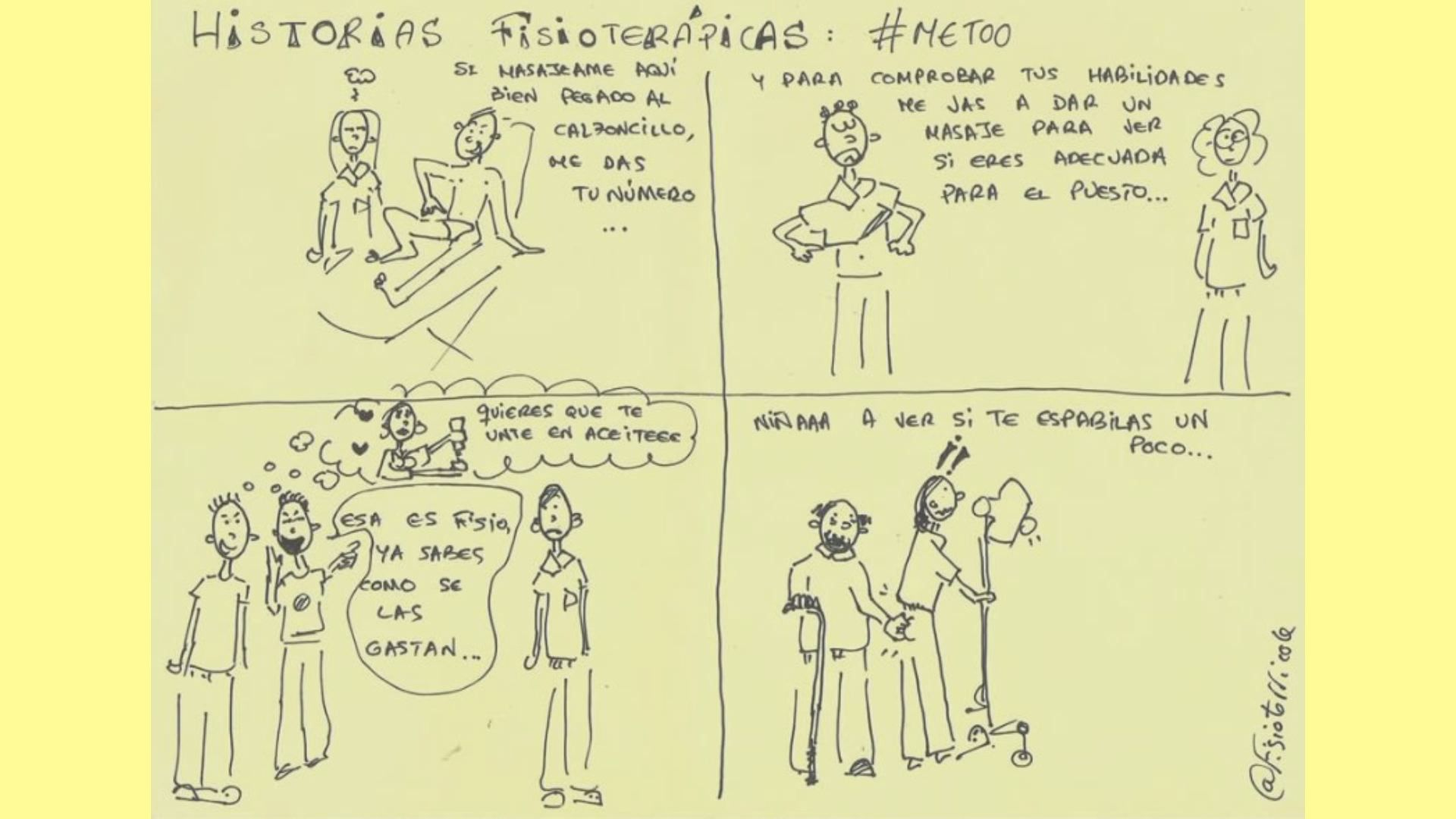 Los más ricos de España.La viñeta: Este dibujo creado por la gallega Bibiana Vega fue el detonante de toda la campaña. En él se pueden leer algunas de las incómodas situaciones a las que sus compañeras tienen que hacer frente a diario