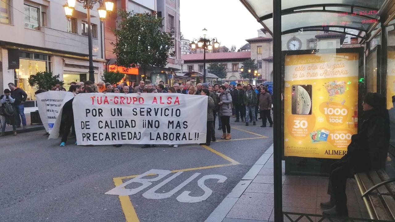 Manifestación TUA en Oviedo