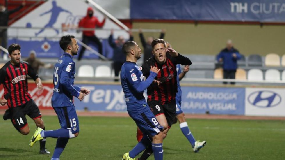 Edgar Hernández celebra su gol frente al Getafe