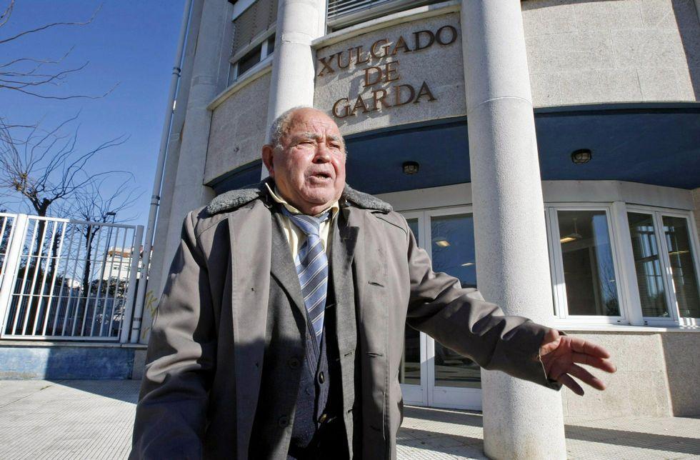 .Secundino Prego, en los juzgados de A Parda, apenas unos meses antes de ser asesinado.