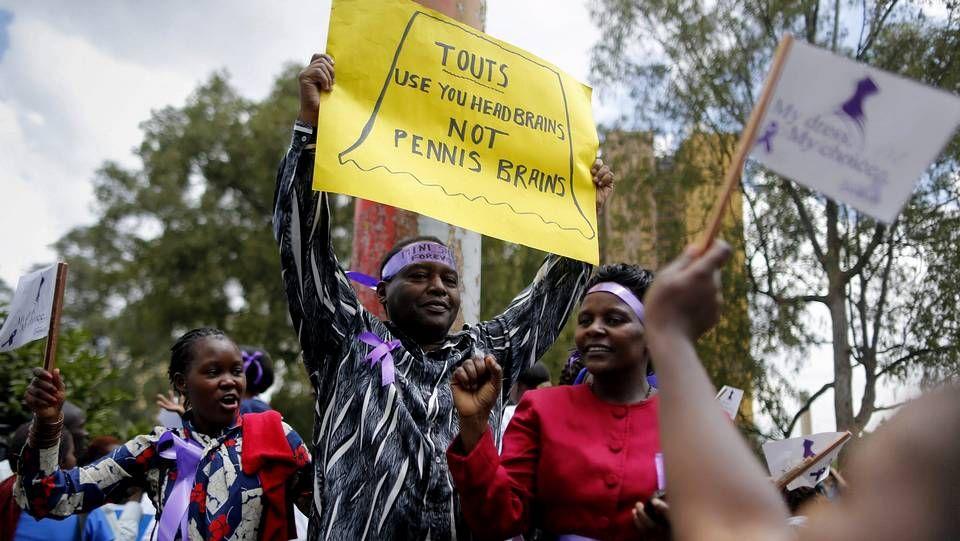 .Imágenes de la protesta.