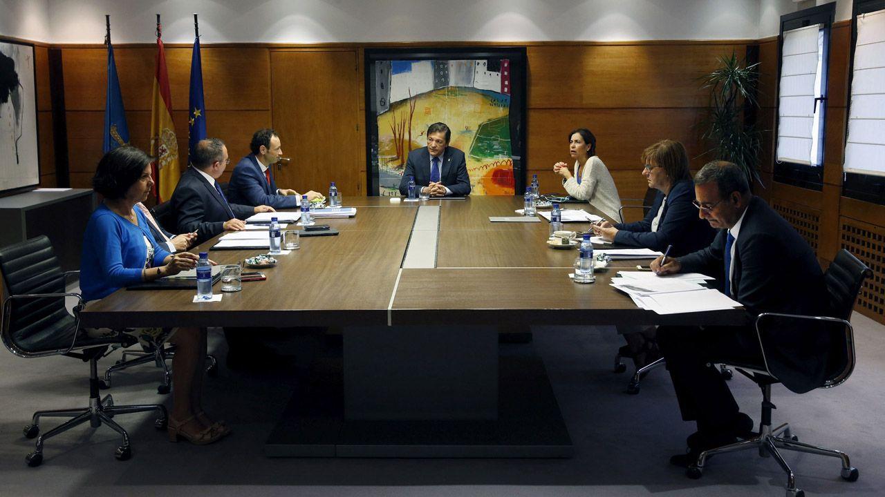 Christian Fernandez Anquela Real Oviedo Requexon.Reunión del Consejo de Gobierno de Asturias