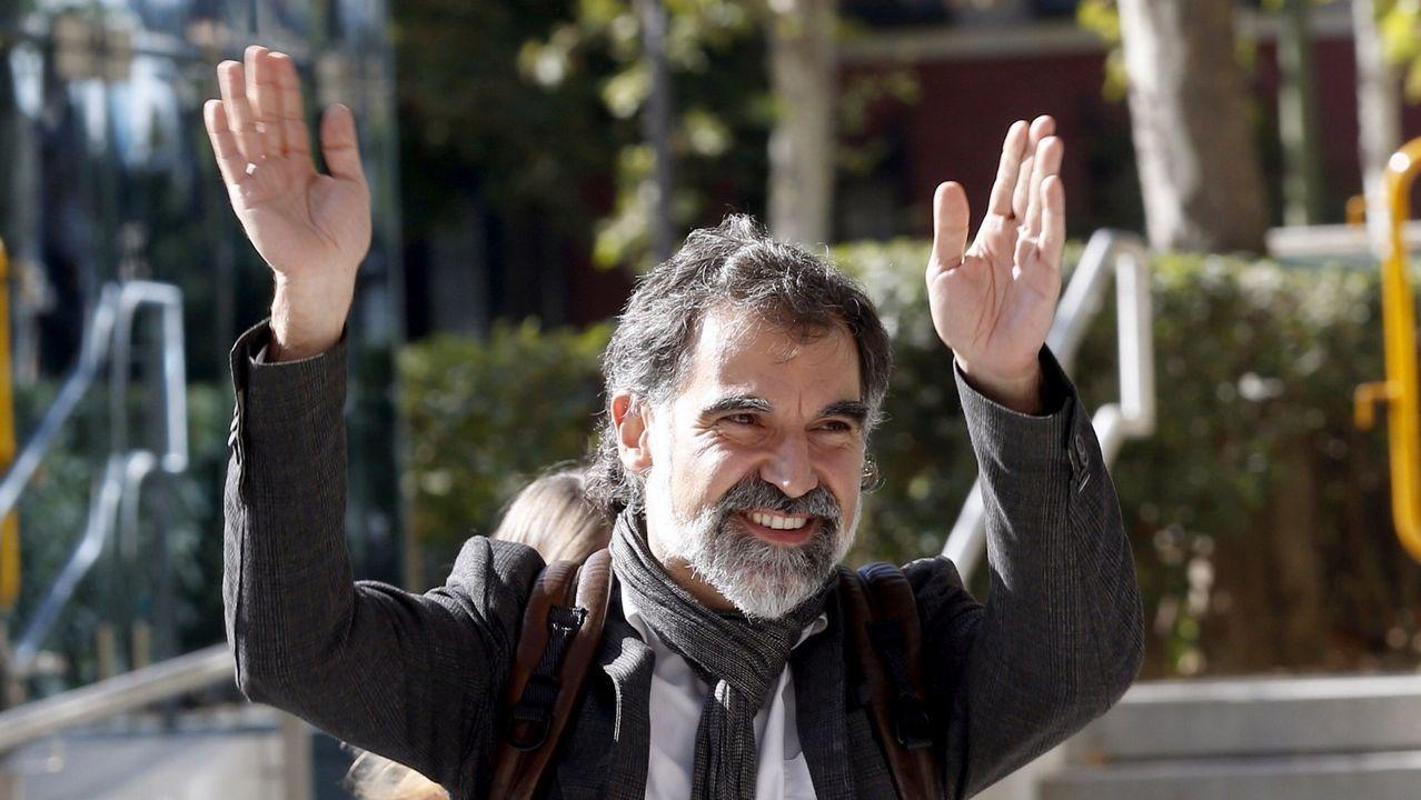 .El líder de Omnium Cultural, Jordi Cuixart, y Jordi Sànchez fueron los primeros encarcelados por el proceso soberanista. Está en Soto del Real  por promover las concentraciones del pasado 20 y 21 de septiembre en Barcelona