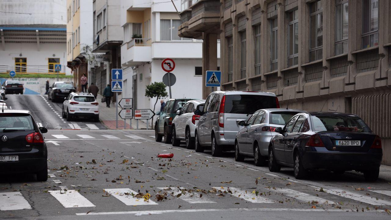 Los efectos del temporal Carlos también se han dejado notar en Burela.
