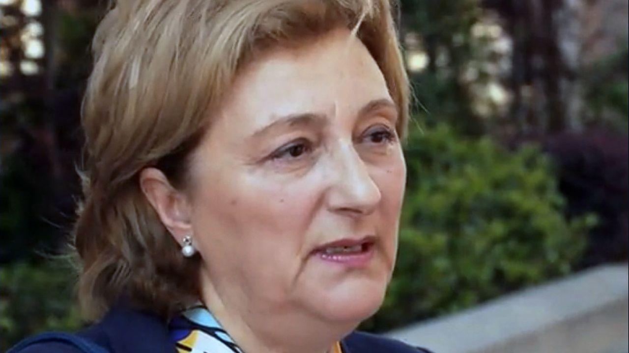 Castillete del pozo Maria Luisa.La nueva delegada del Gobierno, Delia Losa