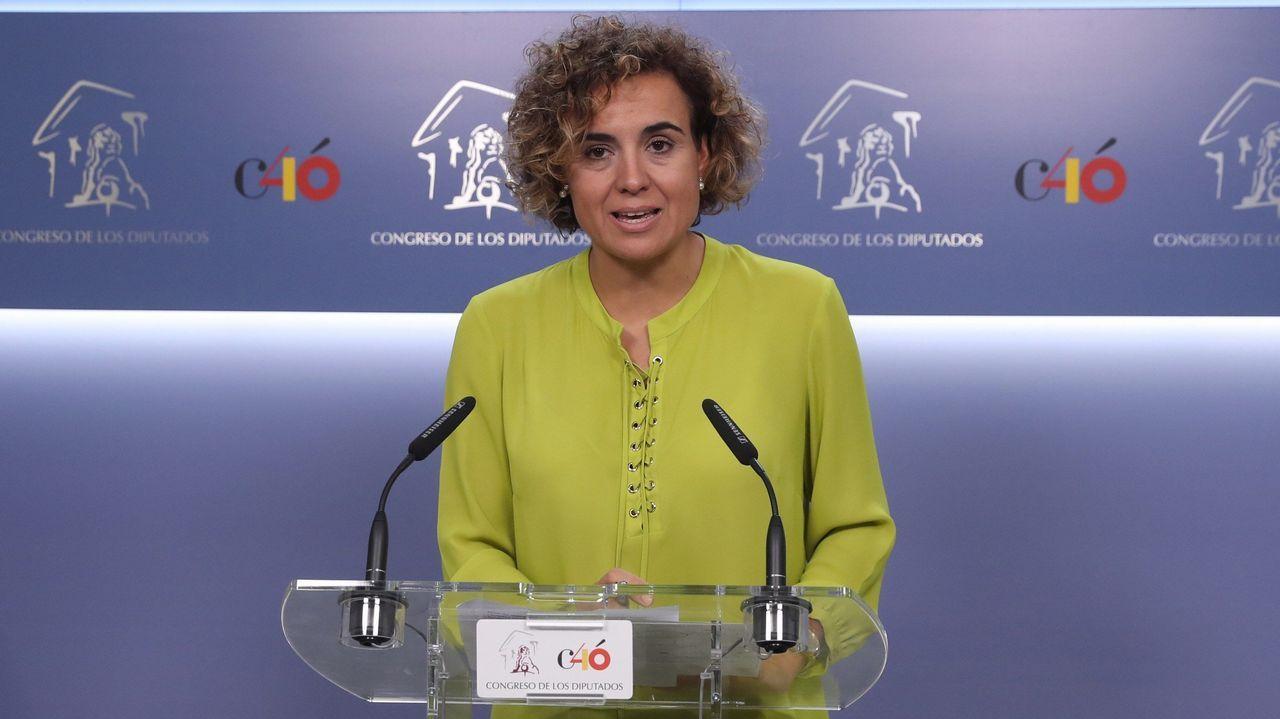 El Gobierno explica el borrador de los Presupuestos que se enviará a Bruselas.Carmen Calvo y Elsa Artadi