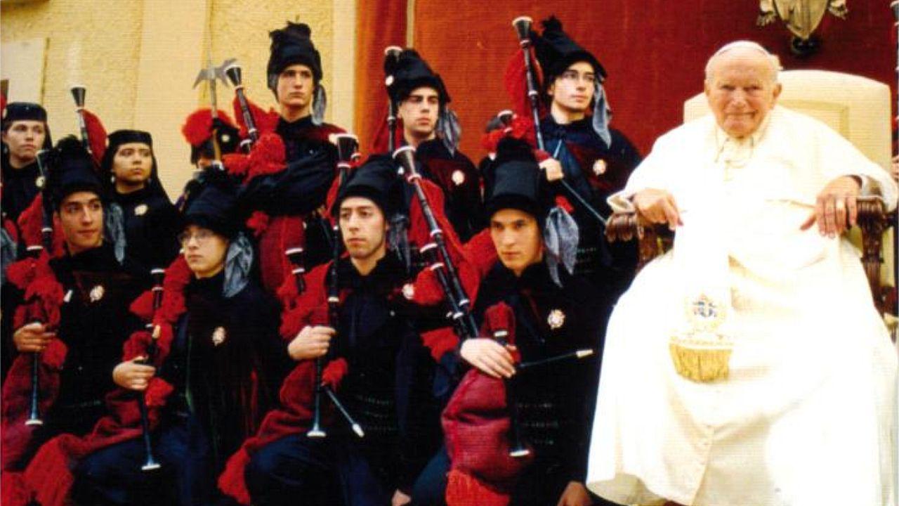 .La Real Banda ya le había dedicado una muiñeira a Juan Pablo II