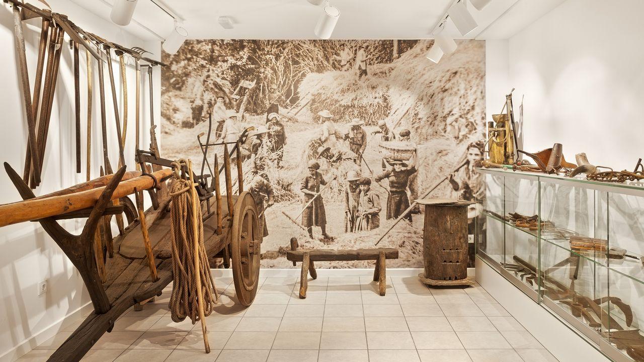 «Posiblemente, un 70% dos veciños das Pontes non coñecen este museo».Enla imagen, un rincón del nuevo Museo Etnográfico Monte Caxado, que se inaugura el día 30 de marzo en A Vila (As Pontes)